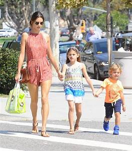 Alessandra Ambrosio Takes Her Kids Shopping In Santa ...