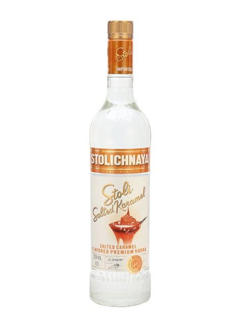 Aldi do a salted caramel vodka liquor for a tenner a litre that tastes like an ice cream soda. Stolichnaya Salted Caramel Vodka : Buy from World's Best ...