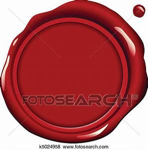 Clip Art of Red Wax Seal k5024958 - Search Clipart ...