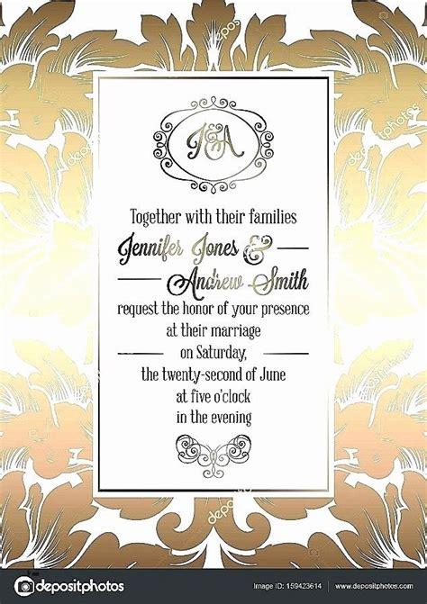 Wedding Invitation Card Template Editable Elegant Free