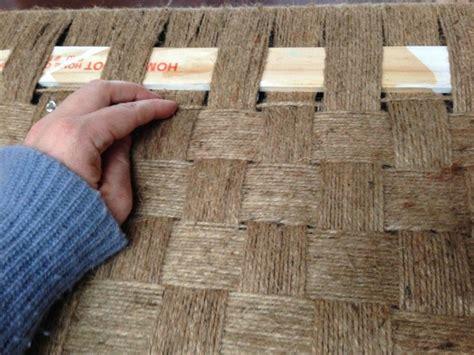 rustic diy woven bench transformation diy woven bench