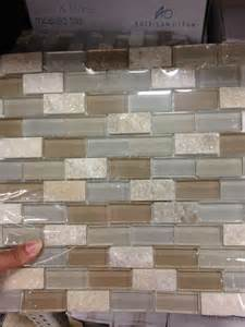 lowes kitchen backsplash olean delfino icy mist mixed material mosaic indoor outdoor wall tile common 12