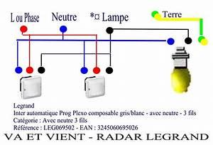 Eclairage Sans Branchement Electrique : branchement detecteur de mouvement avec interrupteur va et vient van et nina ~ Melissatoandfro.com Idées de Décoration