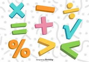 Vector 3D Colorful Math Symbols - Download Free Vector Art ...