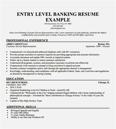 Resume Objective For Entry Level by Entry Level Customer Service Resume Resume Template