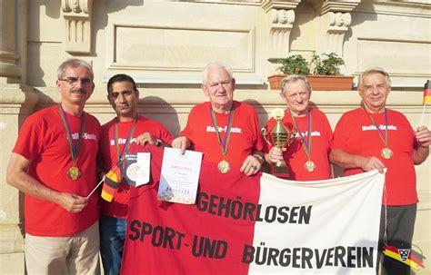 Halle/saale Ist Vereinseuropameister Der Gehörlosen