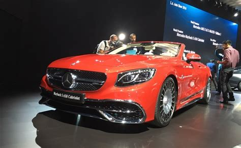 Mercedes is producing a very limited, very dark version of its flagship sedan, the mercedes maybach s 650, for the us. Mercedes-Maybach S 650 Cabriolet Makes Its Global Debut At 2016 LA Auto Show - CarandBike