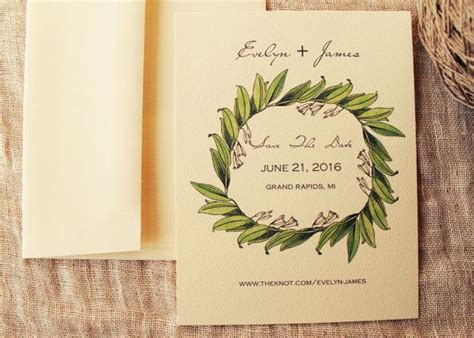Lily Wedding Save the Date Cards Botanical Save the Date