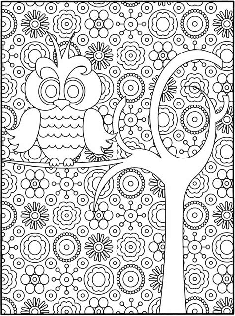 owl coloring pages  adults  detailed owl coloring pages