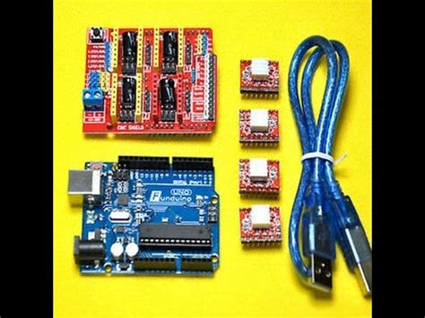arduino uno cnc shield axis axis board  parts youtube