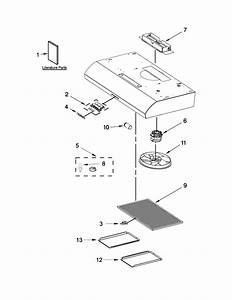 Hood Parts Diagram  U0026 Parts List For Model Uxt5236ays1