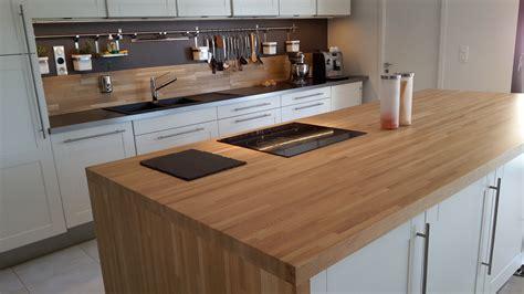 plan de travail cuisine bois brut plan de travail bois massif l atout inconsidérable de