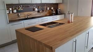optez pour un plan de travail en bois massif With plan de travail exterieur bois