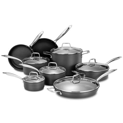 shop momscook professional hard anodized nonstick  piece cookware set  shipping today