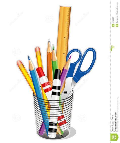 Writing & Drawing Tools Stock Vector Illustration Of Metal 4678907