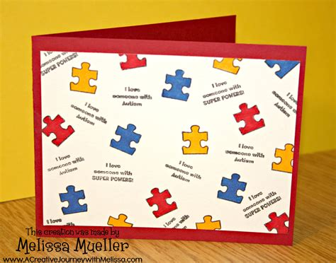 awareness ribbon set  autism awareness clear stamps