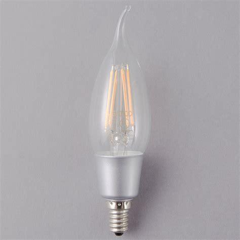 satco   watt  watt equivalent clear warm white led light bulb  candelabra base