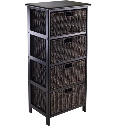 storage bookcase with baskets omaha storage rack with 4 baskets in shelves with baskets
