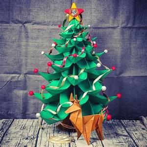 Weihnachtsbaum Basteln Papier : weihnachtsbaum aus papier falten weihnachtsdekobasteln ~ A.2002-acura-tl-radio.info Haus und Dekorationen