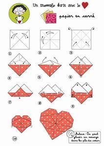 Origami Fleur Coeur D étoile : un petit coeur en papier offrir manual ~ Melissatoandfro.com Idées de Décoration