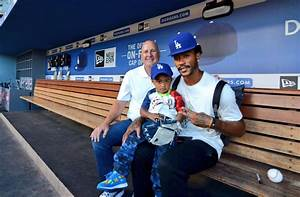 Derrick Rose spends the day at Dodger Stadium in Los ...