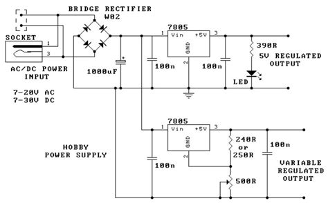 hobby power supply circuit schematic