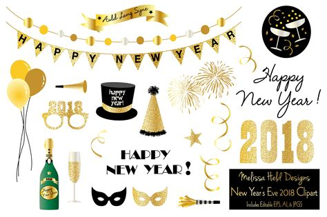 New Year's Eve 2018 Clipart