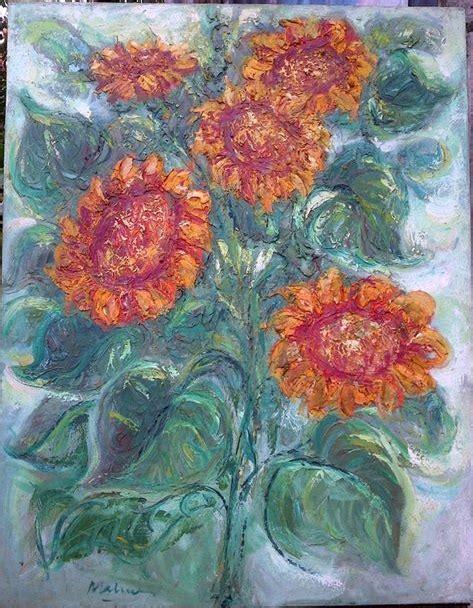 lukisa n bunga gambar lukisan bunga