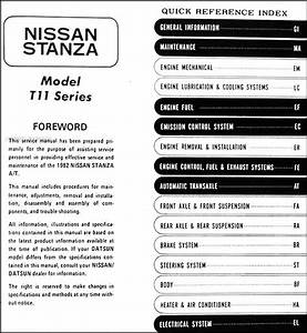 1982 Datsun  Nissan Stanza Repair Shop Manual Supplement