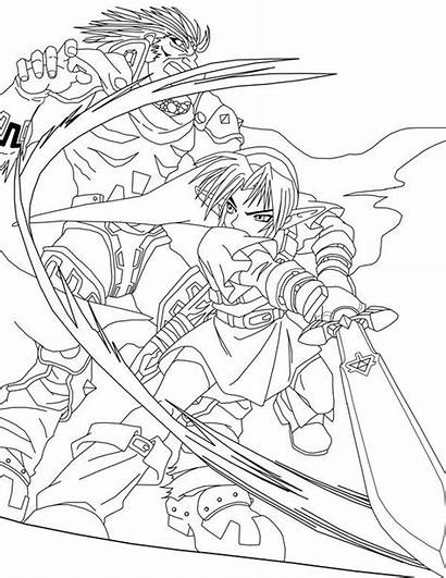 Zelda Lineart Link Coloring Phoenix Ganondorf Line
