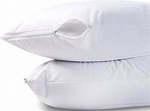 waterproof zippered pillow encasement bed bug proof pillow With best dust mite pillow covers