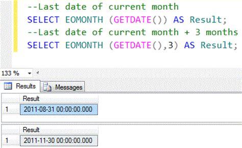 sql server denali  function    date  month