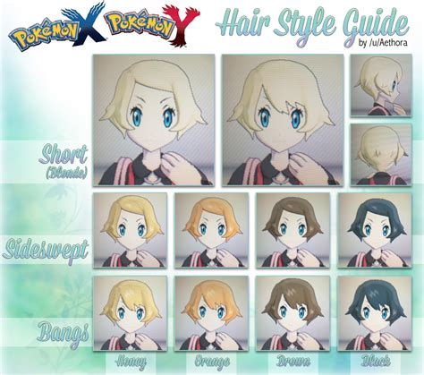 female hairstyle guide super detailed pokemon