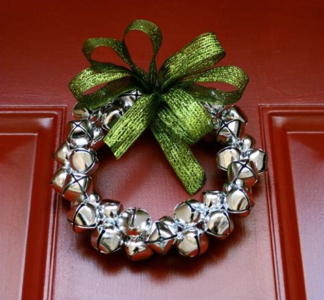 small silver jingle bell wreath christmas pinterest