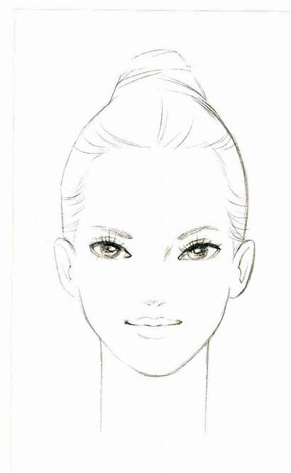 Face Drawing Makeup Charts Illustration Drawings Realistic