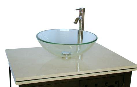 Inch Bathroom Vanity Vessel Sink Style Dark Brown Color