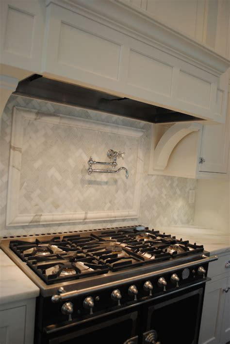 marble herringbone backsplash marble herringbone backsplash transitional kitchen stacye love