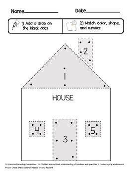 sped preschool    correspondence house activity tpt