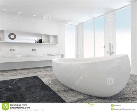 salle de bains moderne lumineuse tr 232 s spacieuse avec la baignoire illustration stock image
