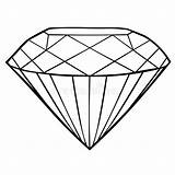 Coloring Jewel Pages Diamond Icon Template Vector sketch template