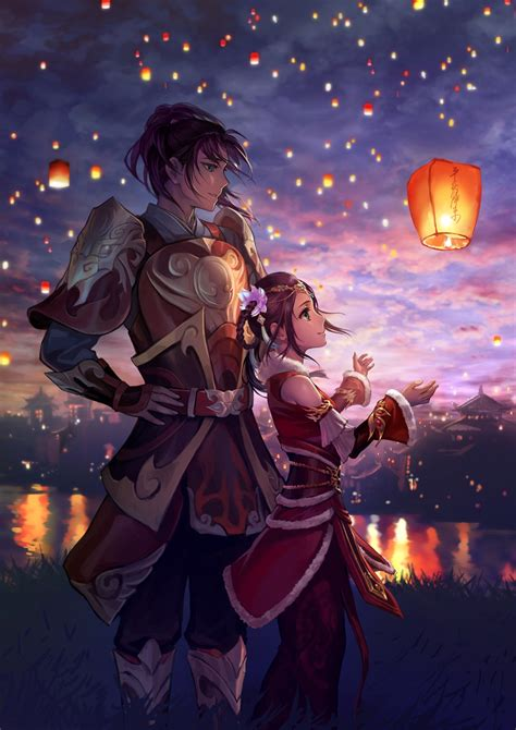 lantern lights original characters sky lanterns