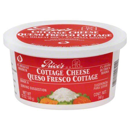 Cottage Cheese Price by Price S 4 Milkfat Cottage Cheese 12 Oz Walmart