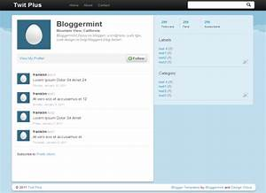 twit plus twitter inspired blogger template With blank twitter profile template