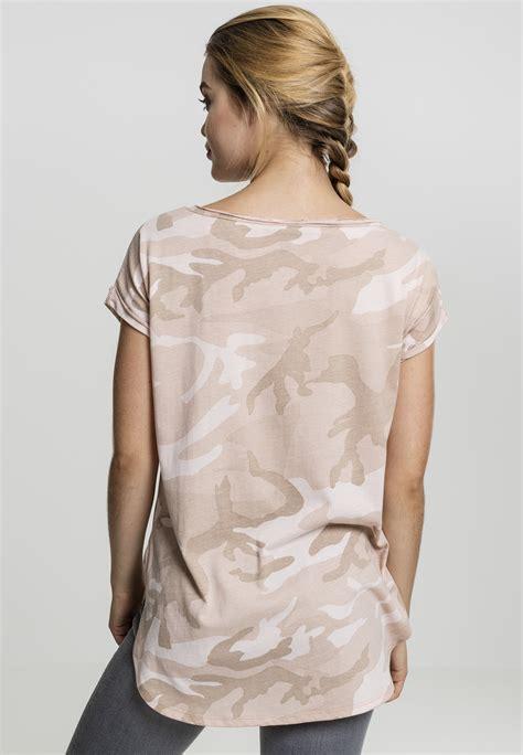 classics camo back shaped damen t shirt
