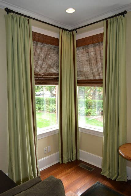 Bendable Curtain Rods For Corner Windows by Williams Interior Design Before And After