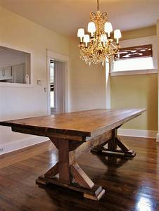 25 best ideas about reclaimed wood tables on pinterest With rustic farmhouse dining room tables