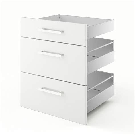 3 fr cuisine 3 tiroirs de cuisine blanc 3d60 délice l60 x h70 x p55 cm