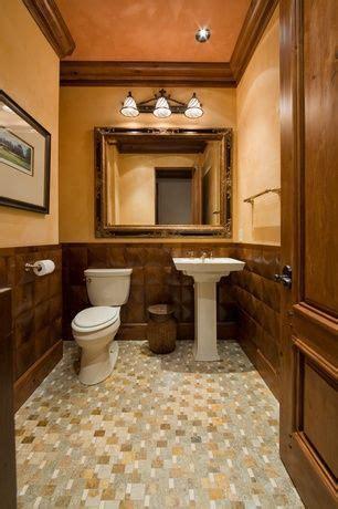 craftsman powder room  powder room ceramic tile