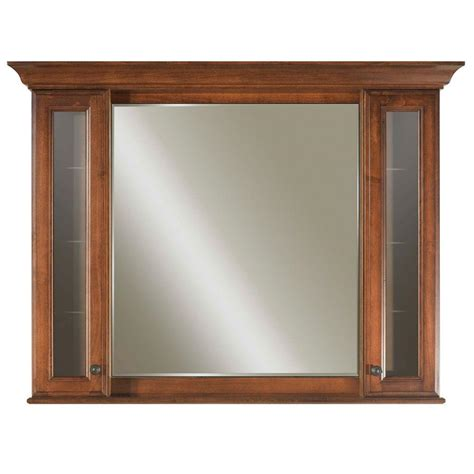 surface mount medicine cabinet with mirror water creation spain 48 in x 40 in surface mount