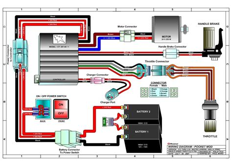 Razor Scooter Battery Wiring Diagram by Razor Pocket Mod Bistro Electric Scooter Parts